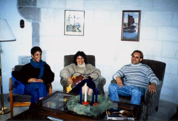 With Nurit Moallem (Left) and Lina Majaj, East Jerusalem, 1989.