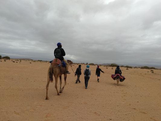 Wanderern in der Wüste