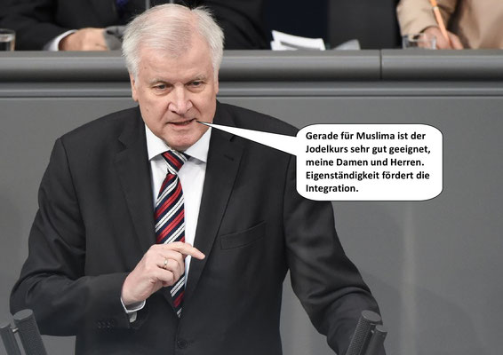 Horst Seehofer, Minister für Heimat und Gedöns.