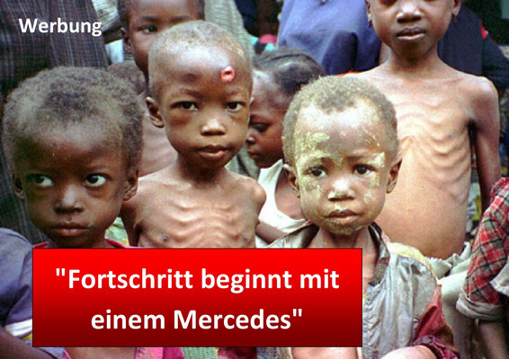 Daimler Benz, Werbung. Fortschritt beginnt mit einem Mercedes.