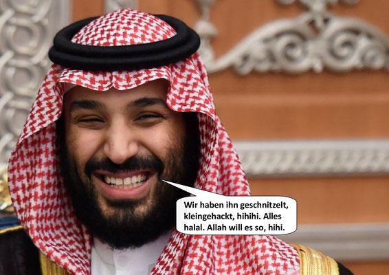 War first Todestrilogie Teil 2; Kronprinz Mohammed bin Salman, Tod des Journalisten Jamal Khashoggi 2018