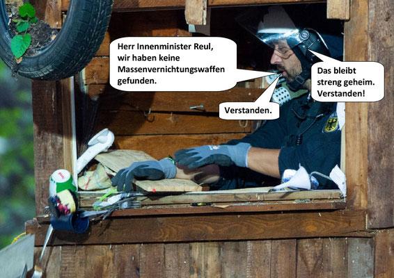 Räumung Hambacher Forst, ...und...
