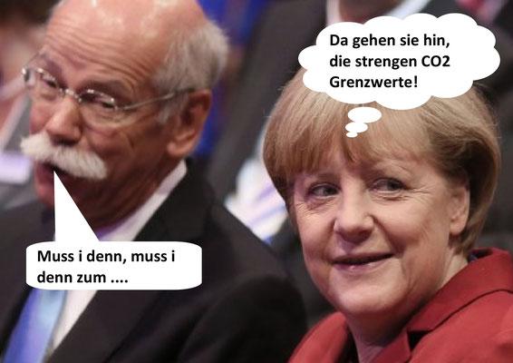 Dieter Zetsche, Angela Merkel
