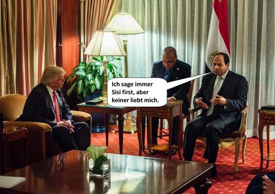 Donald Trump, Abdel Fattah el-Sisi
