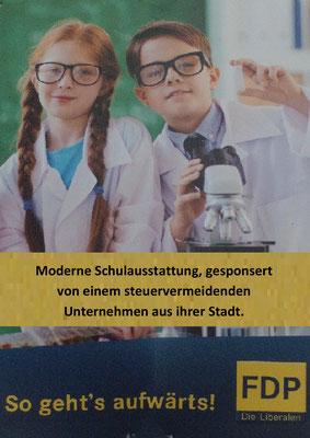 FDP, Wahlkampfplakat