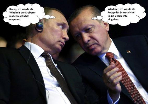 Wladimir Putin, Recep Tayyip Erdogan