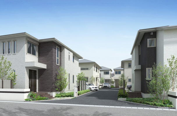 中規模パース 住宅 6棟