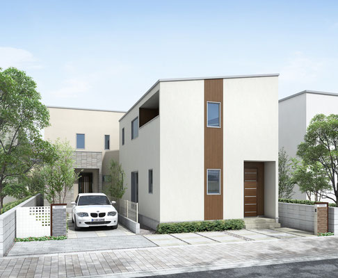 小規模パース 住宅 2棟