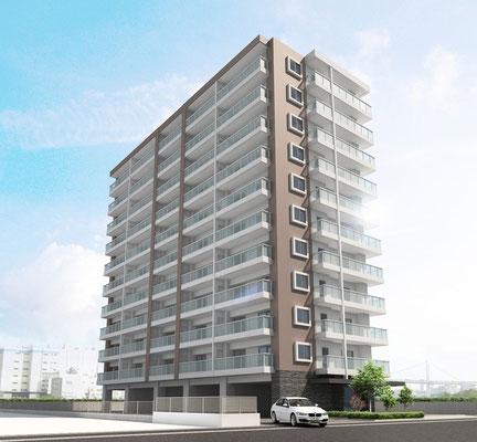 中規模集合住宅パース マンションパース