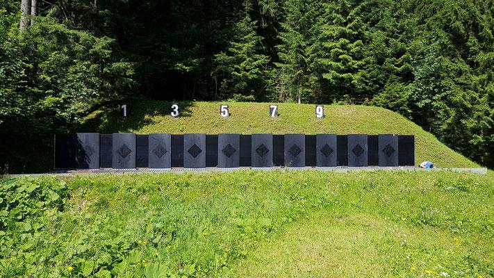 29.06.2016 Fertig montierte Kugelfangkästen