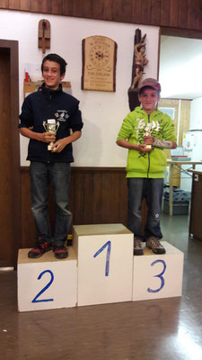 Gewinner Dorfschiessen; Arnold Dominic, Rang 2 und Arnold Tim, Rang 3