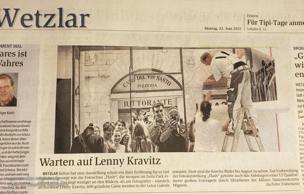 Leica Camera Wetzlar, Fotoausstellung Lenny Kravitz (Foto: Holger Daberkow)