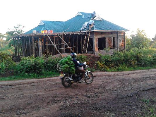 Der fertiggestellte Rohbau im Dezember 2015.