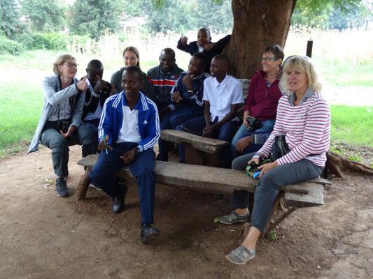 Gespräch mit einigen Auszubildenden im VTC.