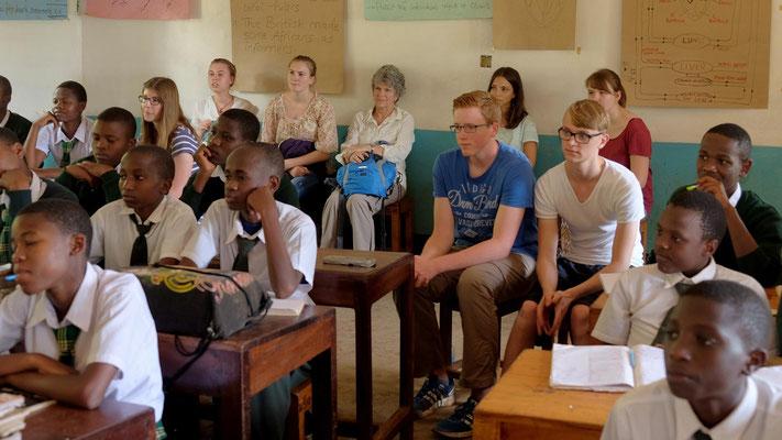 Unterrichtsbesuch in der Kishumundu Secondary School.