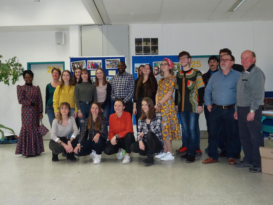 Schüler der Besuchsgruppe 2018 der Kopernikusschule und ihre Begleiter.