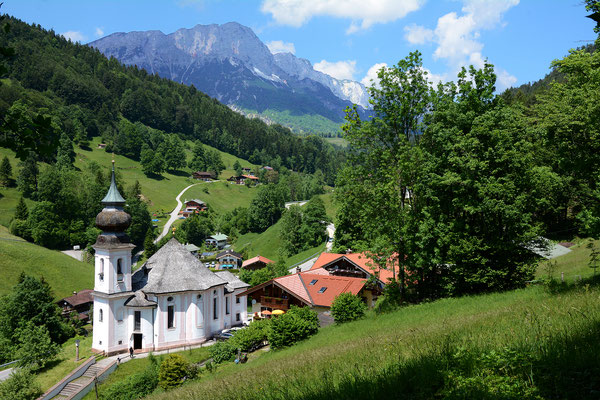 The church of Maria Gern, a village nearby Berchtesgaden.