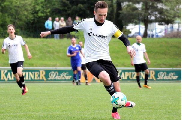 Einer der auffälligsten Spieler bei den Gästen: Fabian Sticht.