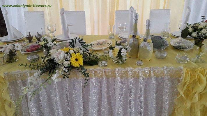 цветочное оформление свадьбы ростов