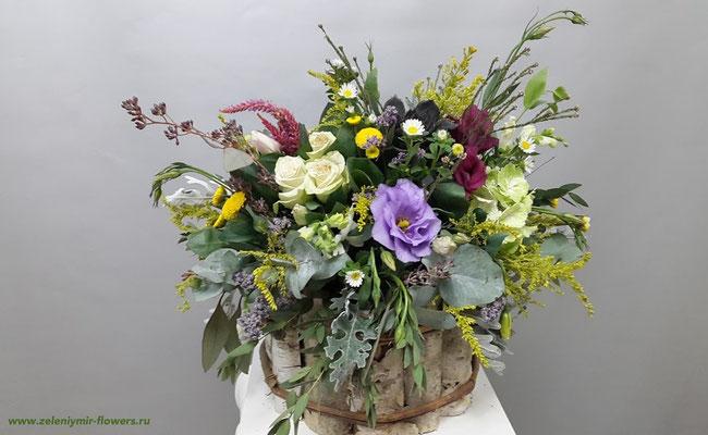 цветочная композиция с конфетами новочеркасск