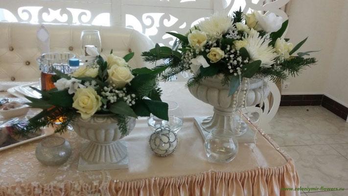 оформление свадьбы цветами вешенская