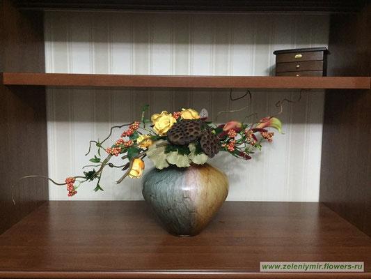 Композиции из искусственных цветов на стол казанская