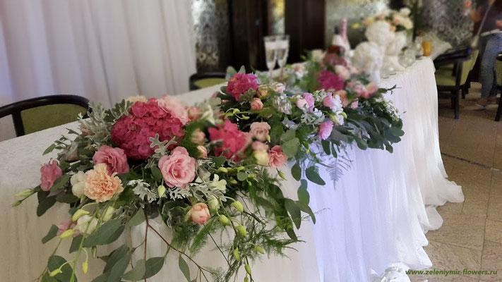 оформление свадебного стола вешенская