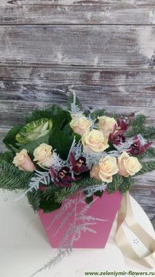 цветы в корзине купить вешенская