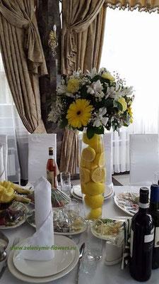 свадебное оформление стола казанская
