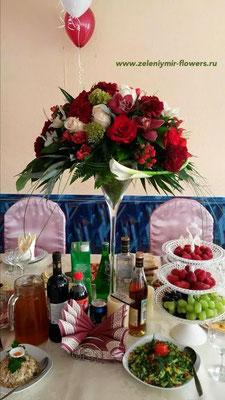свадебное оформление стола боковская