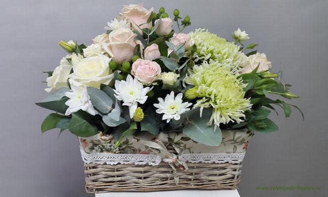 купить цветы в корзинке боковская