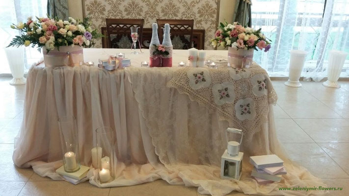 оформление свадебного зала боковская