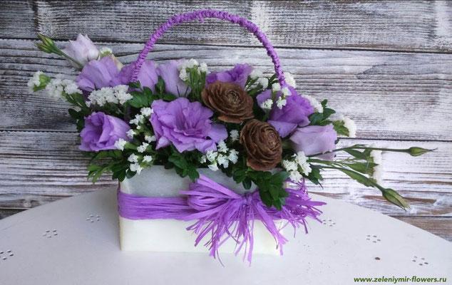 композиция из цветов в корзине  купить миллерово