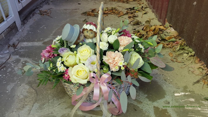 купить цветы в корзинке вешенская