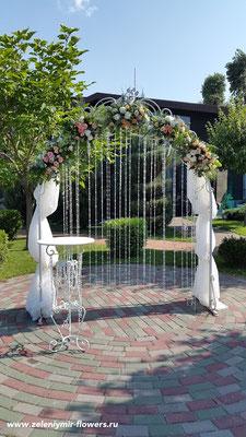 оформление свадебного стола миллерово