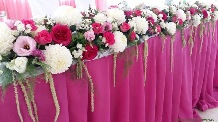 оформление свадьбы цветами боковская
