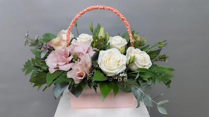 купить цветы в корзинке казанская