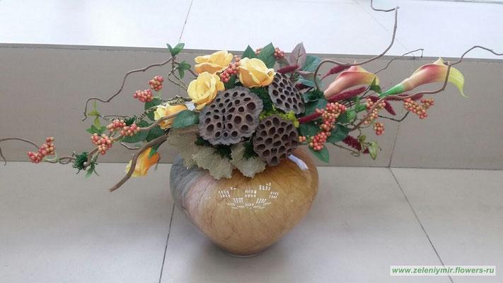 Композиции из искусственных цветов на стол новочеркасск