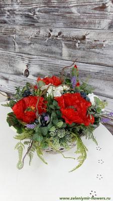 композиции из искусственных цветов на свадьбу миллерово