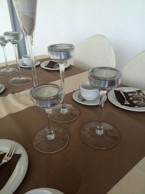 Glas-Kerzenhalter 3-Teilig