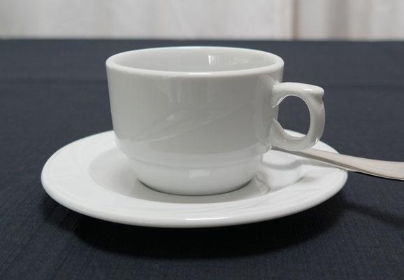 Kaffeetasse obere und untere