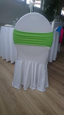 Schleifenband stretch grün
