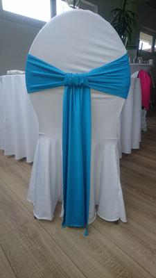 Schleifenband stretch blau