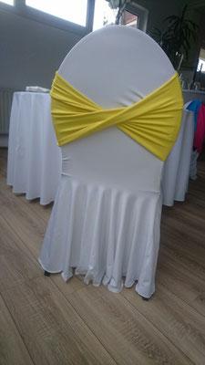Schleifenband stretch gelb