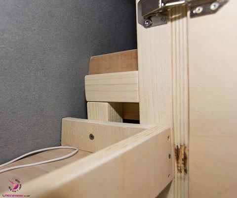 VW T5 Bus Ausbau Möbelbau - Fahrerseite Oberschrank Regal innen