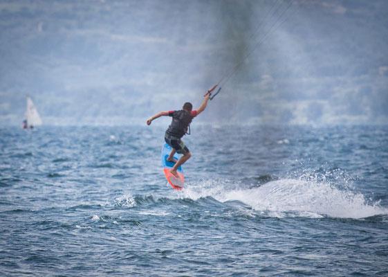 Kitesurfen am Lago di Bolsena