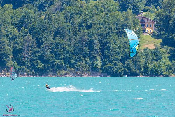 Kitesurfen am Wolfgangsee