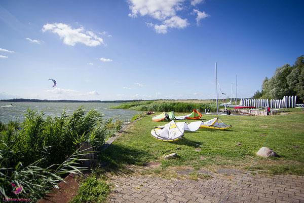 Der Kitesurfspot beim Café Knatter auf Usedom