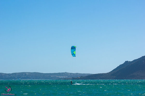 Kitesurfen in Sharkbay Langebaan