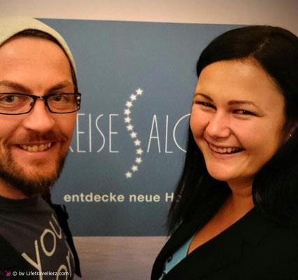 Die Reiseblogger Melanie und Juergen Schlotze beim Reisesalon in Wien